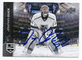 JONATHAN QUICK LOS ANGELES KINGS AUTOGRAPHED HOCKEY CARD #31816F