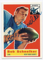BOB SCHNELKER NEW YORK GIANTS AUTOGRAPHED FOOTBALL CARD #31916B