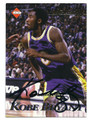 KOBE BRYANT LOS ANGELES LAKERS AUTOGRAPHED BASKETBALL CARD #31916D