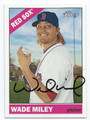 WADE MILEY BOSTON RED SOX AUTOGRAPHED BASEBALL CARD #32016B