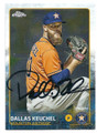 DALLAS KEUCHEL HOUSTON ASTROS AUTOGRAPHED BASEBALL CARD #32116B