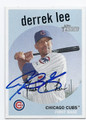 DERREK LEE CHICAGO CUBS AUTOGRAPHED BASEBALL CARD #32116D