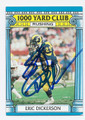 ERIC DICKERSON LOS ANGELES RAMS AUTOGRAPHED VINTAGE FOOTBALL CARD #32116H