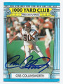 CRIS COLLINSWORTH CINCINNATI BENGALS AUTOGRAPHED VINTAGE FOOTBALL CARD #32216D