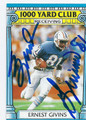ERNEST GIVINS HOUSTON OILERS AUTOGRAPHED VINTAGE FOOTBALL CARD #32216F