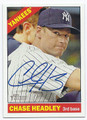 CHASE HEADLEY NEW YORK YANKEES AUTOGRAPHED BASEBALL CARD #32316D