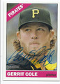 GERRIT COLE PITTSBURGH PIRATES AUTOGRAPHED BASEBALL CARD #32416D