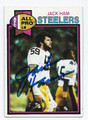 JACK HAM PITTSBURGH STEELERS AUTOGRAPHED VINTAGE FOOTBALL CARD #32416E