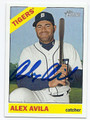 ALEX AVILA DETROIT TIGERS AUTOGRAPHED BASEBALL CARD #32516B