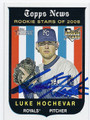 LUKE HOCHEVAR KANSAS CITY ROYALS AUTOGRAPHED ROOKIE BASEBALL CARD #32516F