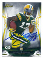 DAVANTE ADAMS GREEN BAY PACKERS AUTOGRAPHED ROOKIE FOOTBALL CARD #32616A