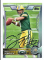 BRETT HUNDLEY GREEN BAY PACKERS AUTOGRAPHED ROOKIE FOOTBALL CARD #32616D
