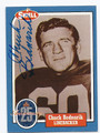 CHUCK BEDNARIK PHILADELPHIA EAGLES HALL OF FAME AUTOGRAPHED VINTAGE FOOTBALL CARD #32616E