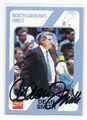 DEAN SMITH NORTH CAROLINA TAR HEELS AUTOGRAPHED VINTAGE BASKETBALL CARD #32816B