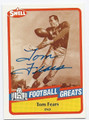 TOM FEARS GREEN BAY PACKERS & LOS ANGELES RAMS AUTOGRAPHED VINTAGE HALL OF FAME FOOTBALL CARD #32816F