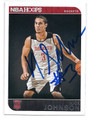 NICK JOHNSON HOUSTON ROCKETS AUTOGRAPHED ROOKIE BASKETBALL CARD #32816G