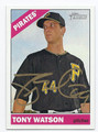 TONY WATSON PITTSBURGH PIRATES AUTOGRAPHED BASEBALL CARD #32816H