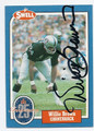 WILLIE BROWN OAKLAND RAIDERS AUTOGRAPHED HALL OF FAME VINTAGE FOOTBALL CARD #32916D