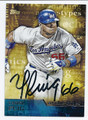 YASIEL PUIG LOS ANGELES DODGERS AUTOGRAPHED BASEBALL CARD #33016H
