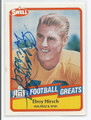 ELROY CRAZYLEGS HIRSCH LOS ANGELES RAMS AUTOGRAPHED VINTAGE FOOTBALL CARD #33116B