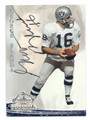 GEORGE BLANDA OAKLAND RAIDERS AUTOGRAPHED FOOTBALL CARD #40116B