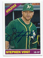 STEPHEN VOGT OAKLAND ATHLETICS AUTOGRAPHED BASEBALL CARD #40216E
