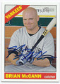 BRIAN McCANN NEW YORK YANKEES AUTOGRAPHED BASEBALL CARD #40416B