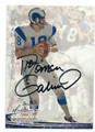 ROMAN GABRIEL LOS ANGELES RAMS AUTOGRAPHED FOOTBALL CARD #40416C