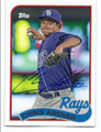 CHRIS ARCHER TAMPA BAY RAYS AUTOGRAPHED BASEBALL CARD #40516F