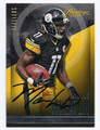 MARKUS WHEATON PITTSBURGH STEELERS AUTOGRAPHED FOOTBALL CARD #40516G