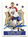 TOM JOHNSON MONTREAL CANADIENS AUTOGRAPHED HOCKEY CARD #40616A