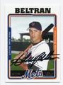 CARLOS BELTRAN NEW YORK METS AUTOGRAPHED BASEBALL CARD #40616H