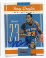 TONEY DOUGLAS NEW YORK KNICKS AUTOGRAPHED BASKETBALL CARD #40716F