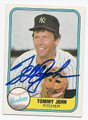 TOMMY JOHN NEW YORK YANKEES AUTOGRAPHED VINTAGE BASEBALL CARD #40716E