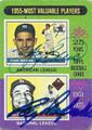 YOGI BERRA & ROY CAMPANELLA DOUBLE AUTOGRAPHED VINTAGE BASEBALL CARD #40916B