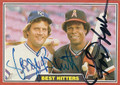 GEORGE BRETT & ROD CAREW DOUBLE AUTOGRAPHED VINTAGE BASEBALL CARD #40916F