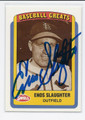 ENOS SLAUGHTER ST LOUIS CARDINALS AUTOGRAPHED VINTAGE BASEBALL CARD #41016B