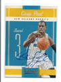 CHRIS PAUL NEW ORLEANS HORNETS AUTOGRAPHED BASKETBALL CARD #41116H