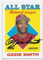 OZZIE SMITH ST LOUIS CARDINALS AUTOGRAPHED VINTAGE BASEBALL CARD #41816A