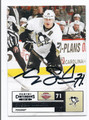 EVGENI MALKIN PITTSBURGH PENGUINS AUTOGRAPHED HOCKEY CARD #41816B