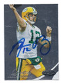 AARON RODGERS GREEN BAY PACKERS AUTOGRAPHED FOOTBALL CARD #41916D