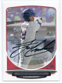 FRANCISCO LINDOR CLEVELAND INDIANS AUTOGRAPHED ROOKIE BASEBALL CARD #41916G