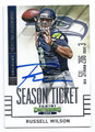 RUSSELL WILSON SEATTLE SEAHAWKS AUTOGRAPHED FOOTBALL CARD #42016E