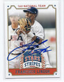 FRANCISCO LINDOR ALL USA-HIGH SCHOOL BASEBALL TEAM AUTOGRAPHED ROOKIE BASEBALL CARD #42016H
