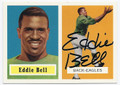 EDDIE BELL PHILADELPHIA EAGLES AUTOGRAPHED FOOTBALL CARD #42216D