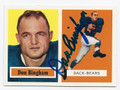 DON BINGHAM CHICAGO BEARS AUTOGRAPHED FOOTBALL CARD #42216G