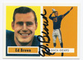 ED BROWN CHICAGO BEARS AUTOGRAPHED FOOTBALL CARD #42316E