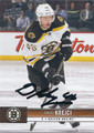 DAVID KREJCI BOSTON BRUINS AUTOGRAPHED HOCKEY CARD #41416G