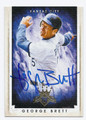 GEORGE BRETT KANSAS CITY ROYALS AUTOGRAPHED BASEBALL CARD #42516D