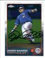 DIONER NAVARRO TORONTO BLUE JAYS AUTOGRAPHED BASEBALL CARD #42616A